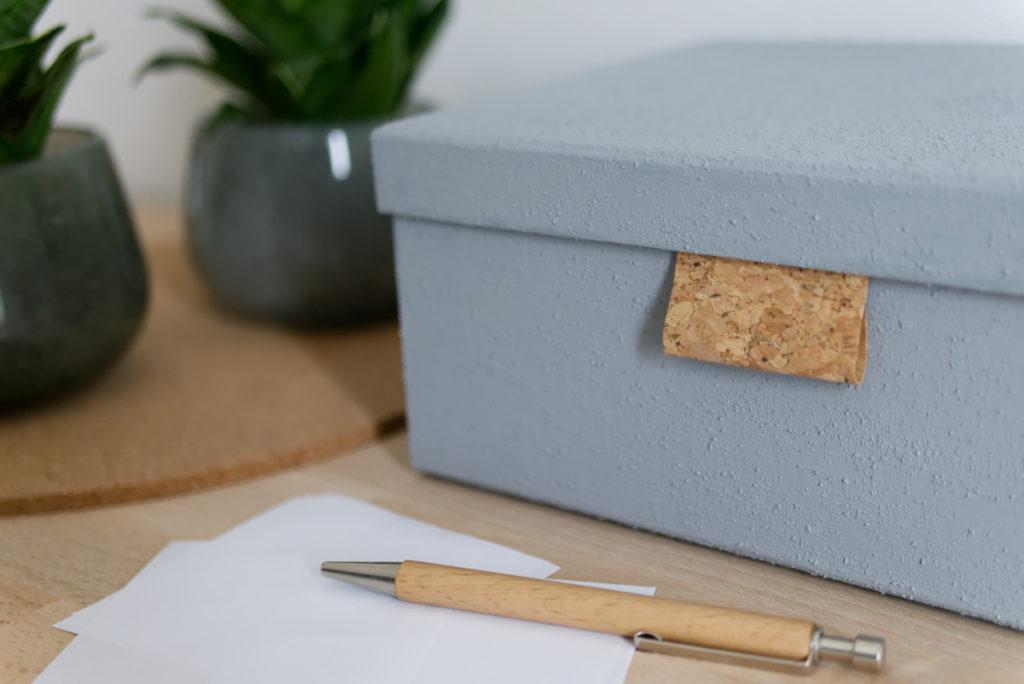 Aufbewahrungsboxen eignen sich hervorragend um Kleinkram ordentlich aufzubewahren.