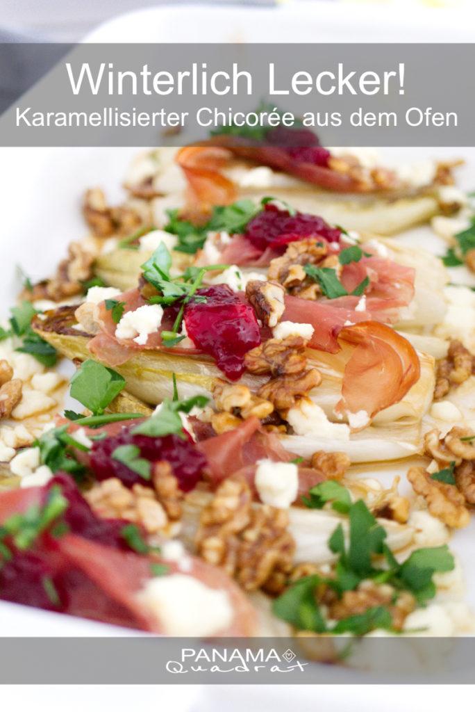 Panama Quadrat: Karamellisierter Chicorée aus dem Ofen – winterlich lecker!