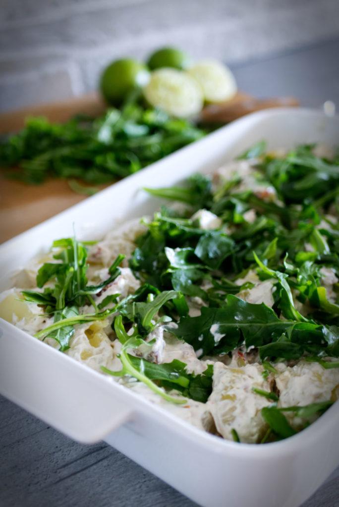 Panama Quadrat: Rustikaler Kartoffelsalat mit selbstgemachter Sour Cream – Pinterest