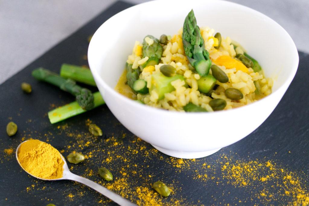 Panama Quadrat: Die Mango sorgt für ein bisschen Süße im Curry-Risotto.