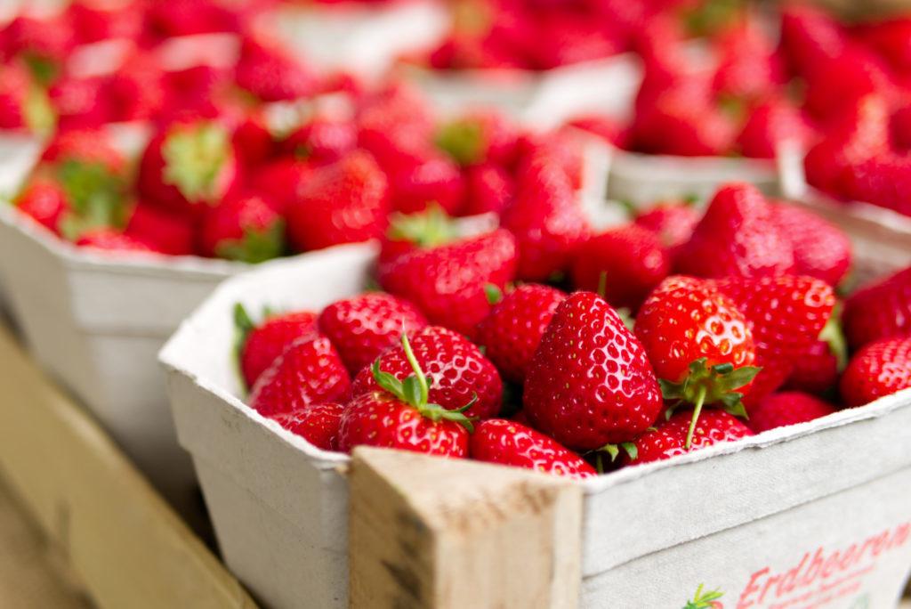 Panama Quadrat: Erdbeerzeit auf dem Wochenmarkt.