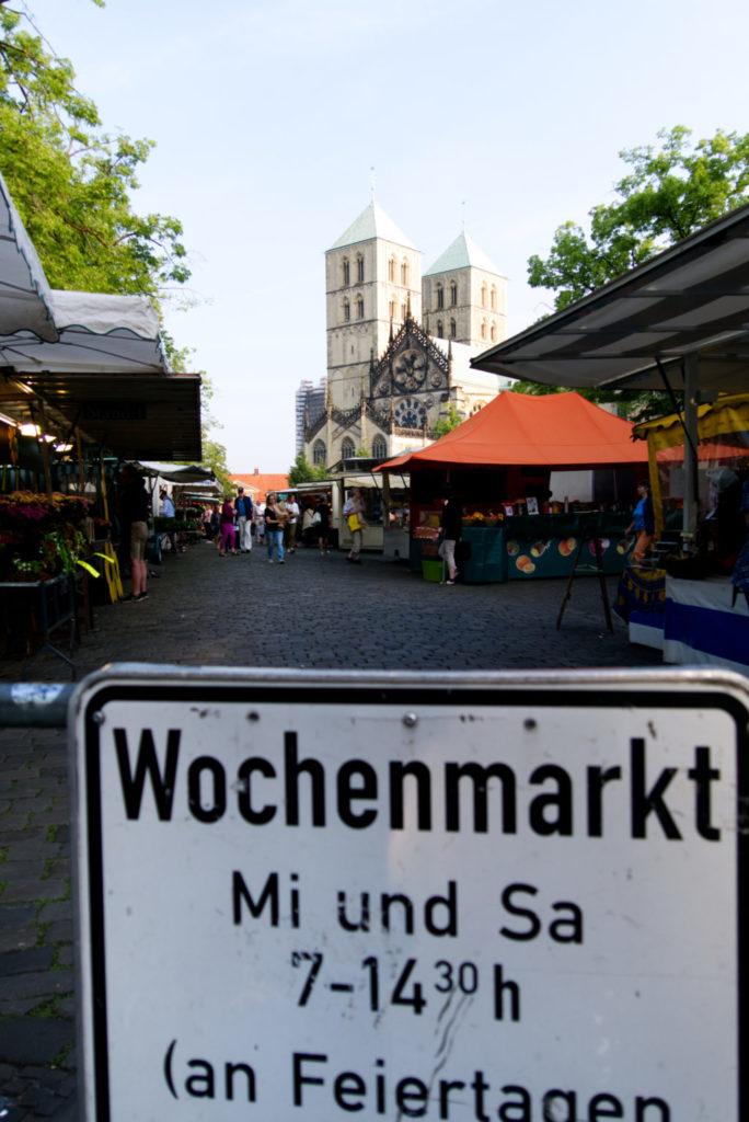Panama Quadrat: Unser Wocheneinkauf, möglichst Plastikfrei auf dem Wochenmarkt am Dom in Münster.