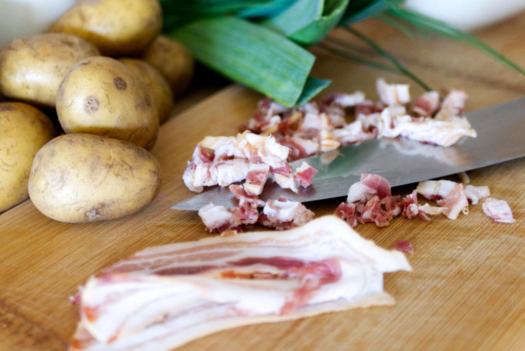 Glutenfreier Kartoffelschmarrn | Speck | Panama Quadrat