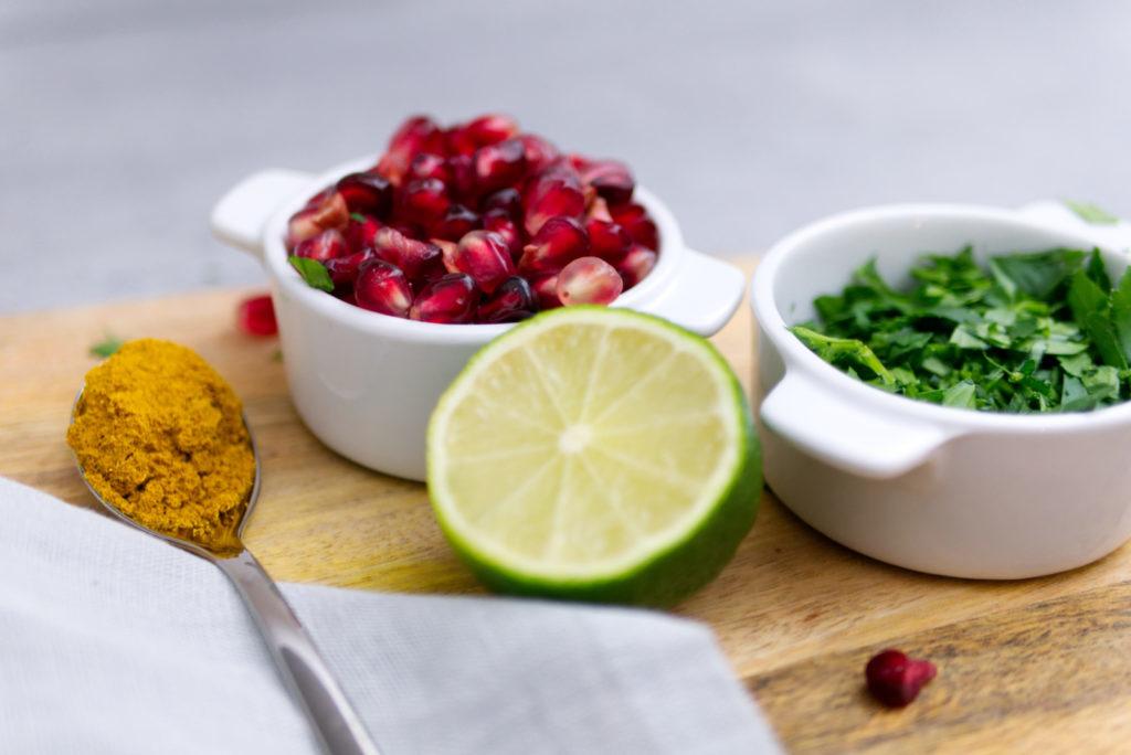 Blumenkohlsuppe mit Curry und Granatapfel | Einfach lecker | Panama Quadrat