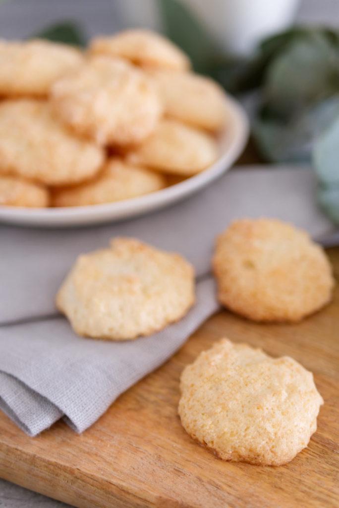 Kokosmakronen | glutenfreie Weihnachtsbäckerei | Panama Quadrat