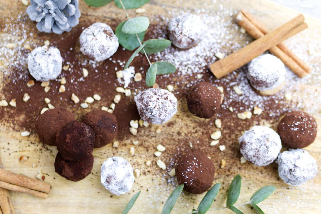 Glutenfreie Weihnachtsbäckerei: Rumkugeln | Mit Nüssen | Panama Quadrat
