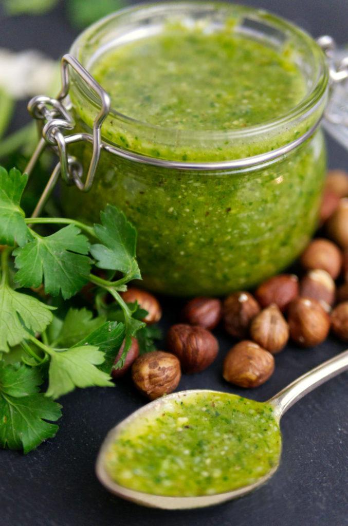 Selbst gemachtes Nuss-Pesto | Gesund und lecker | Panama Quadrat