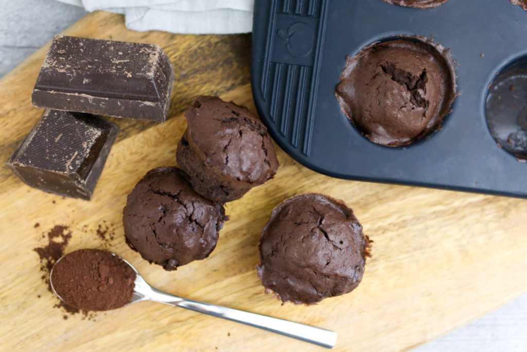 Deep Chocolate Muffins | Kakao und dunkle Schokolade | Panama Quadrat