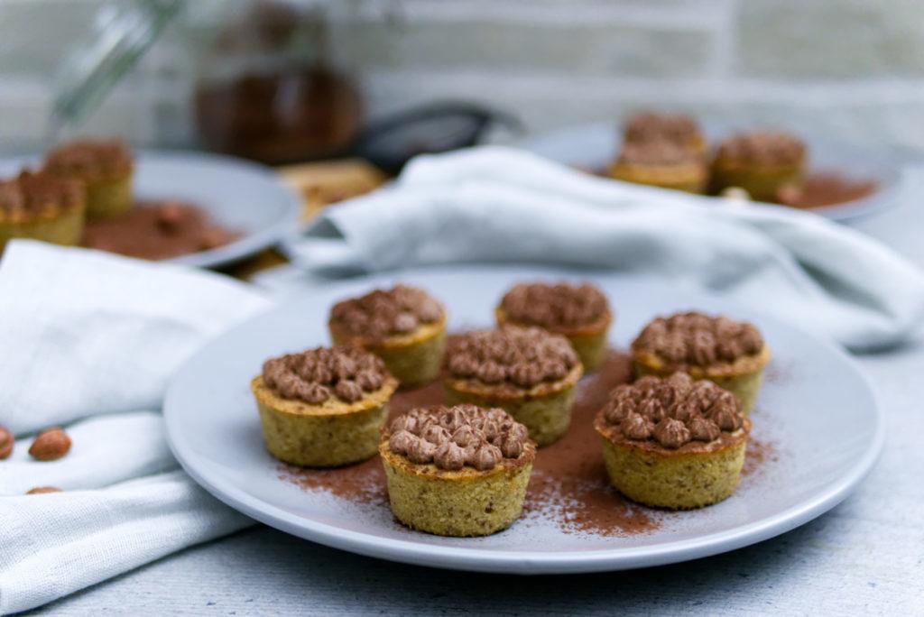 Espresso Cupcakes | Haselnüsse, Schokolade, Sahne | Panama Quadrat
